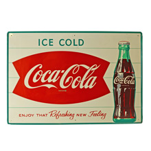 New Old Stock Classic Coca Cola Sign C1950s