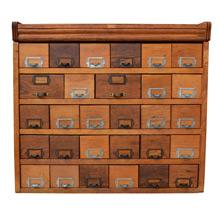 29-Drawer General Store Oak Cabinet C1925