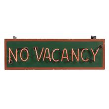 Neon No Vacancy Hotel Sign c1950