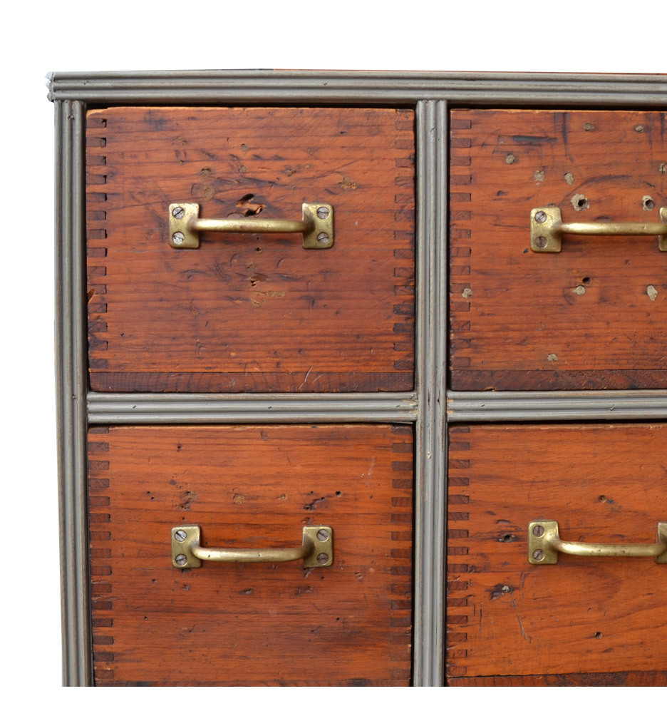 Rustic 16 Drawer Console Cabinet W Box Joints C1945