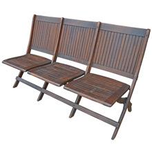 Heywood Brothers & Wakefield Three-Seat Folding Chair C1915