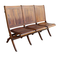 Maple Three Seat Folding Chair c1915