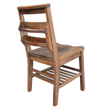 Stained Oak Library Chair w/ Book Holder by Milton Bradley c1925