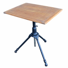 Industrial Drafting Table w/ Cast Iron Tripod Base c1920s