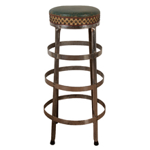 Chrome Plated Kitchen Stool with Upholstered Seat c1930s