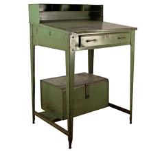 Steel Foreman's Desk w/ Built-In Trunk c1935