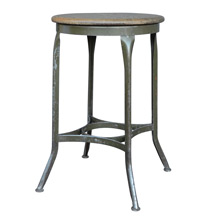 Stationary Height Toledo Stool w/ Oak Seat c1935