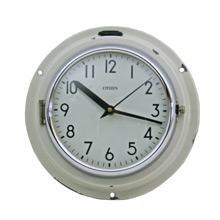 Mid-Century White Naval Clock by Citizen C1965