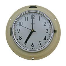 Mid-Century Cream Naval Clock by Citizen C1965