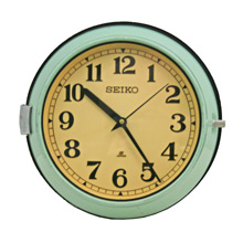 Mid-Century Mint Green Naval Clock by Seiko C1965