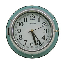 Mid-Century Blue Naval Clock by Kappa C1965