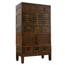 Globe Wernicke Standing Card Catalog Cabinet c1935