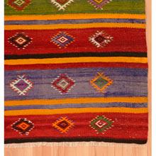 Vintage Hand-Embroidered Rug c1900