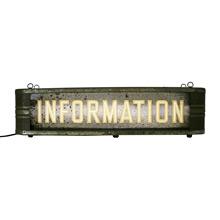 Streamlined Super Cool Back-Lit Information Sign C1940