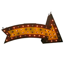 Perfectly Aged Lighted Carnival Arrow C1950