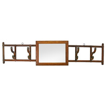 Victorian Hall Hook Rack W/ Mirror C1900