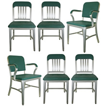 Set of 6 Early GoodForm Office Chairs C1940