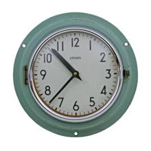 Mid-Century Blue Naval Clock by Citizen C1965