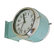 Double-Sided Industrial Wall Clock by Kappa C1965