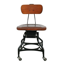 Adjustable Factory Chair by Toledo Metal Furniture Co C1920
