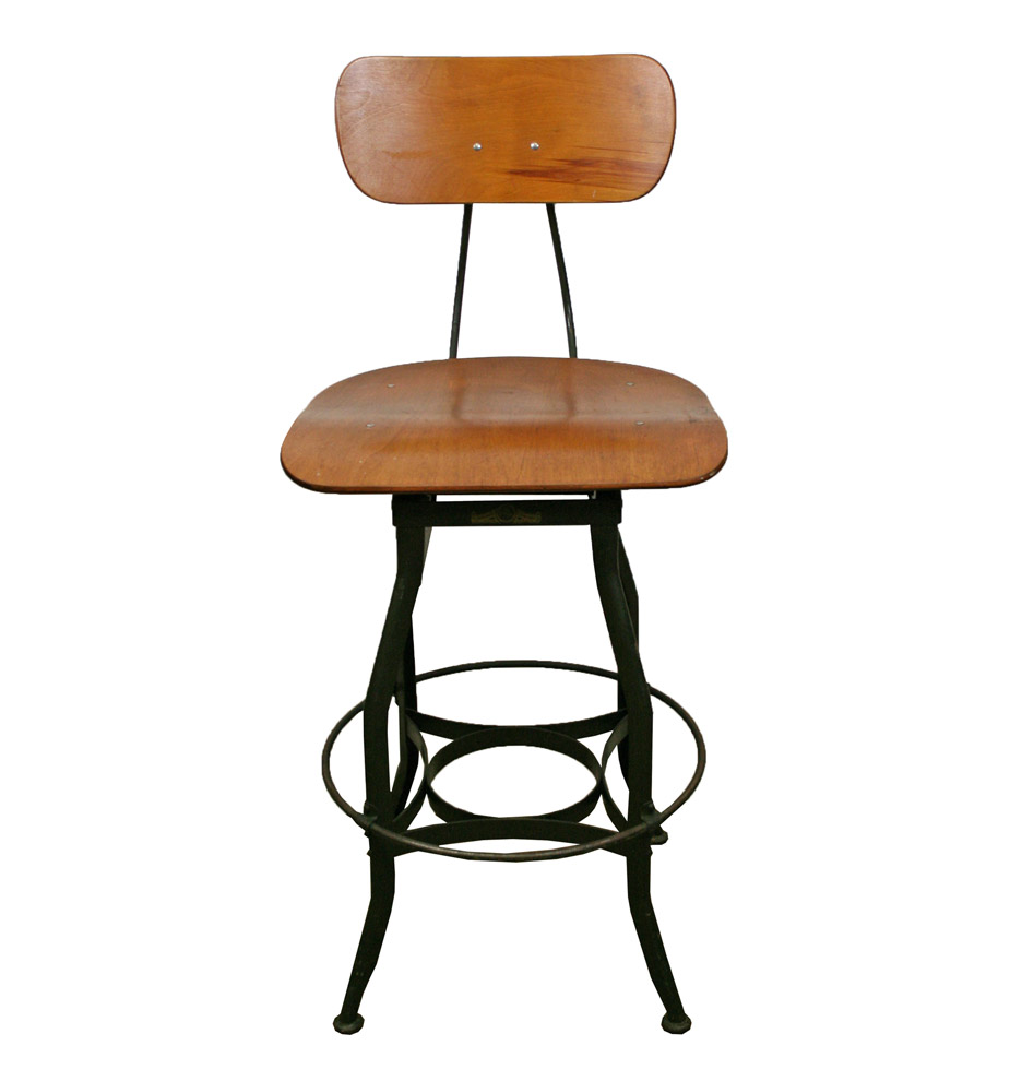 Adjustable Drafting Stool By Toledo Metal Furniture Co