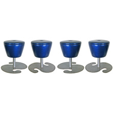 Set of Four Sparkly Blue Disco Stools C1970