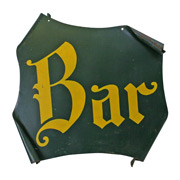 Medieval-Revival Inspired BAR Sign C1945