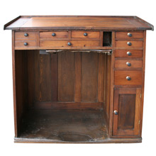 Solid Oak Jeweler's Desk C1880's