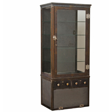 Steel Medical Cabinet w/ Lower Storage Compartment c1910s