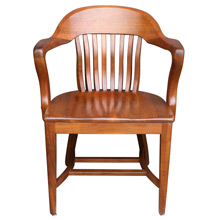 Solid Cherry Library Armchair C1935