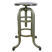 Brushed and Polished Aluminum Dentist's Stool by A.S. Aloe Co C1935