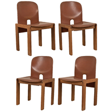 Set of 4 Maple & Leather Cassina Dining Chairs c1965
