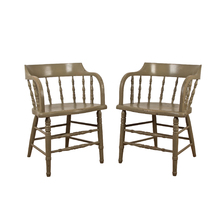 Pair of Mint Green Low-Back Windsor Chairs c1915