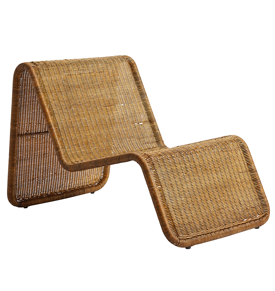 Antique lounge chairs - Wicker Lounge Chair By Tito Agnoli Model P3