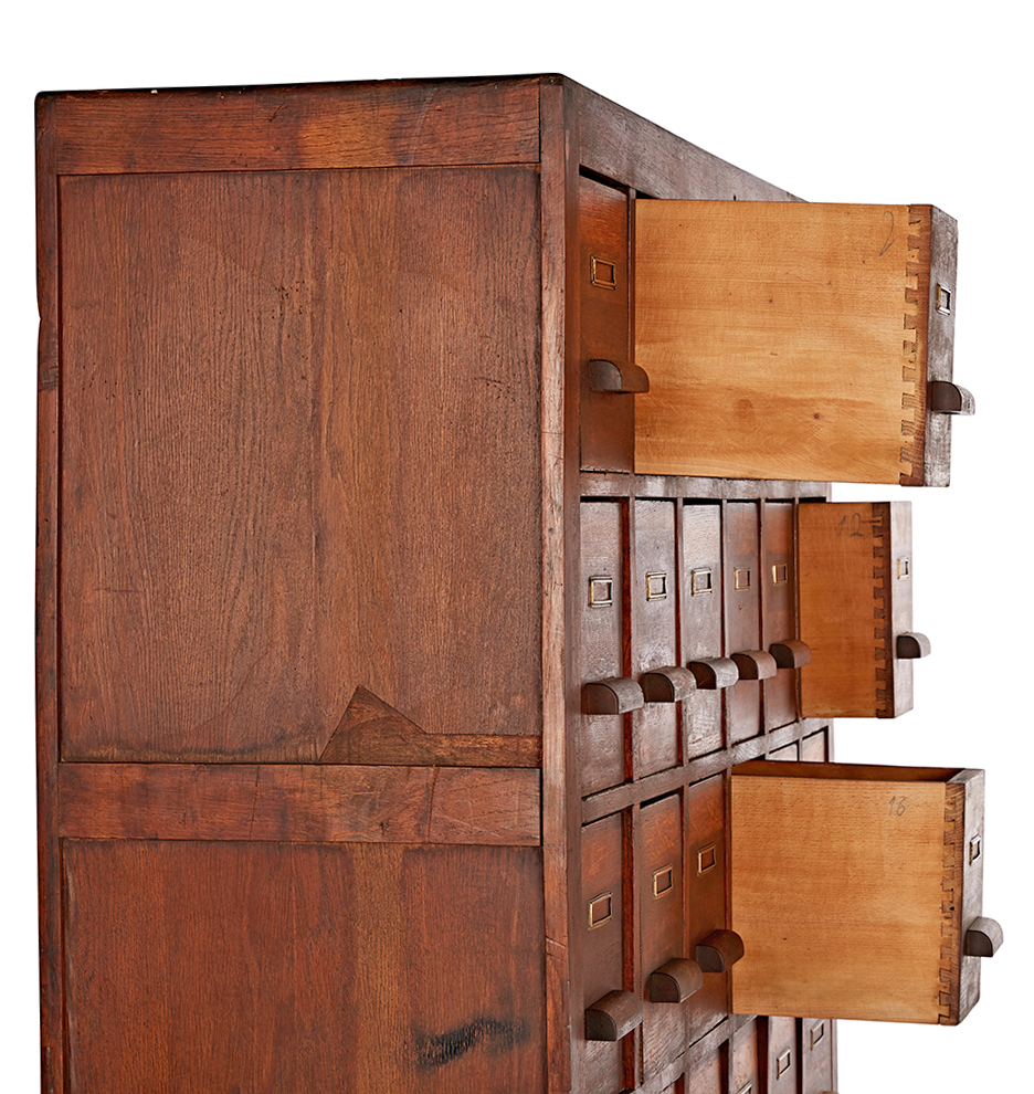 Apothecary Cabinet massive oak 36-drawer apothecary cabinet | rejuvenation