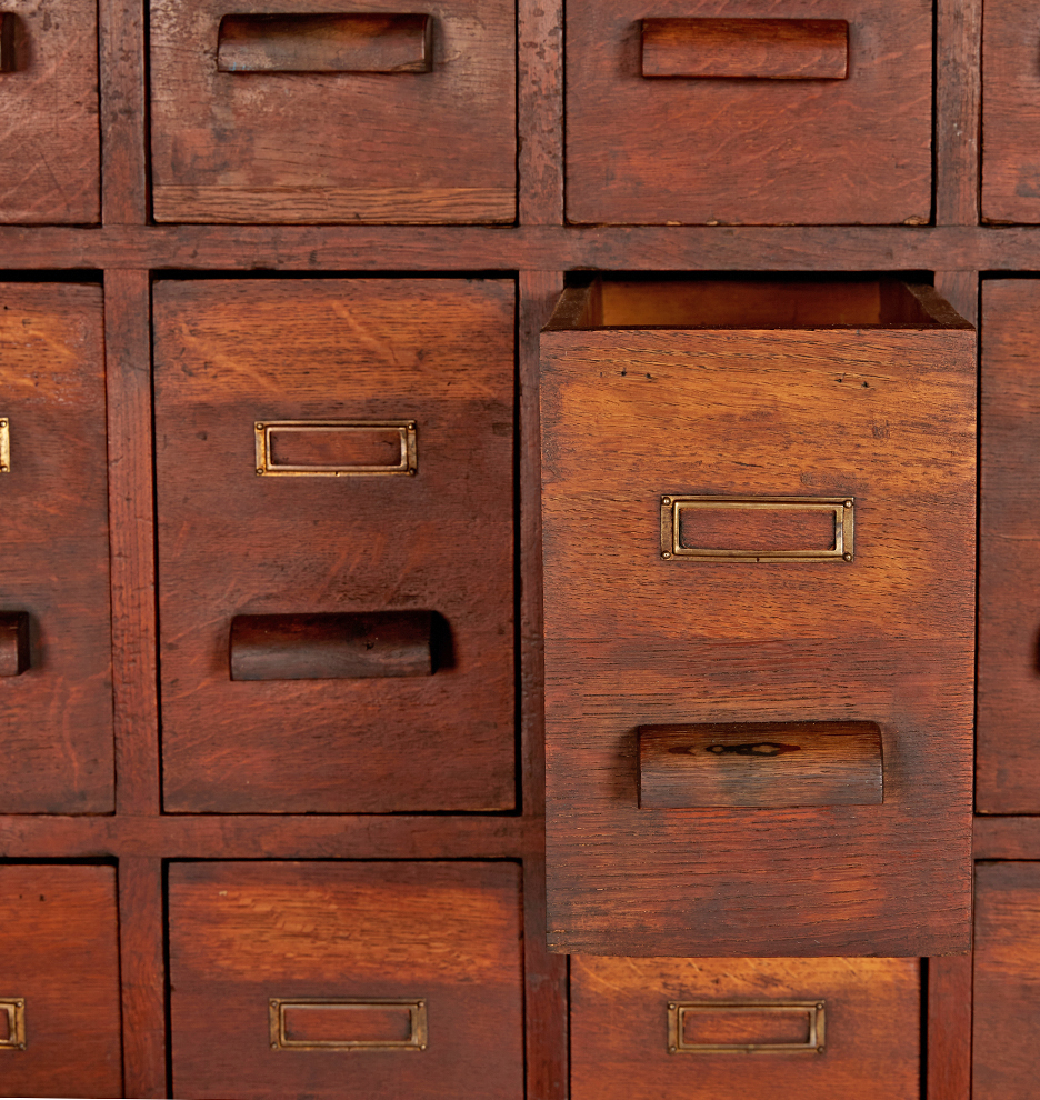 Massive Oak 36-Drawer Apothecary Cabinet | Rejuvenation