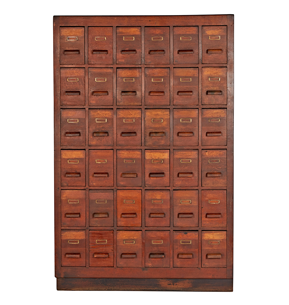 Massive Oak Drawer Apothecary Cabinet Rejuvenation - Apothecary cabinet