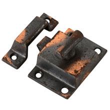 Japanned Copper T-Handle Cupboard Latch, C1905