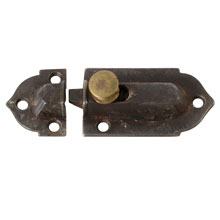 Early Gothic Cast Iron Cupboard Latch, c1865