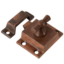 "Copper-Plated ""Bowtie"" Cupboard Latch, C1905"