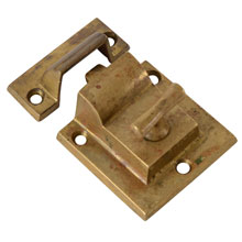Hefty Brass T-Handle Cupboard Latch, C1905