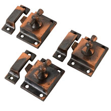 "Set Of 3 Classic ""Bowtie"" Cupboard Latches, C1900"