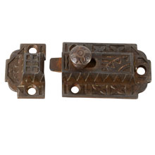 Cast Iron Eastlake Cupboard Latch, Pat. Feb. 7, 1878