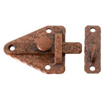 McKinney NOS Copper-Plated Off-Set Cabinet Latch C1955