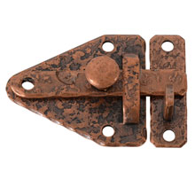 McKinney NOS Copper-Plated Cabinet Latch C1955