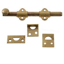 "NOS 6"" Solid Brass Flush Bolts, C1920"
