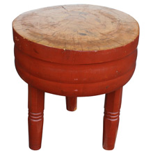 Petite Three-Legged Round Butcher Block C1925