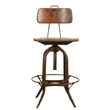 Adjustable Drafting Stool by Toledo Metal Furniture Co C1920