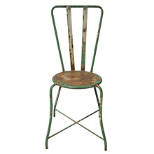 Green and White Painted Examination Room Chair C1920