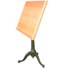 Cast Iron Pedestal Table w/ Fir Wood Top c1915